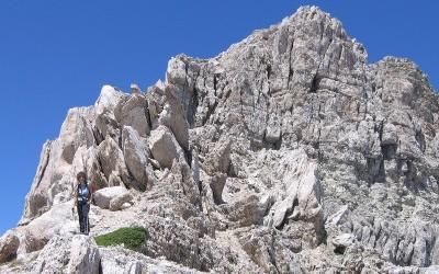 Sulla vetta del Monte Corvo