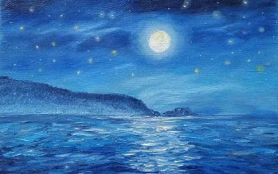 Luna piena a Punta Aderci